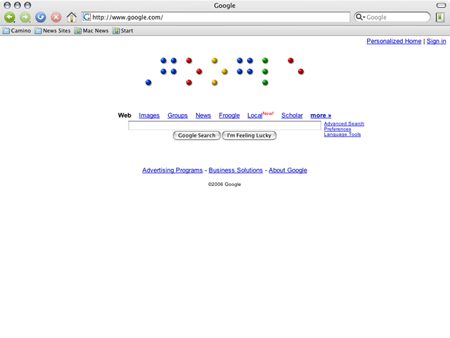 """[image of braille dots saying """"Google""""]"""