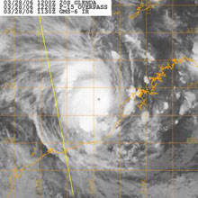 [Satellite photograph of Cyclone Glenda]