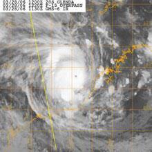 [Satellite photograph of Cyclone Glenda]