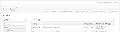 [SemSol blog interface]