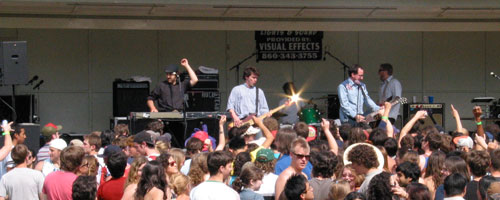 [The Hold Steady performing at Spring Fling]