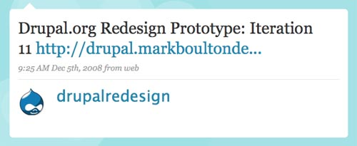 [Drupal Redesign on Twitter]