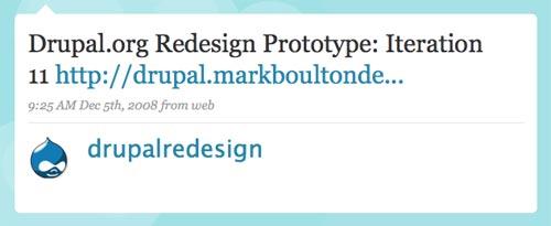 [Drupal Redesign on Twitter]