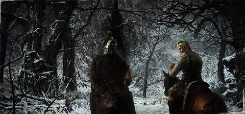 [Wiglaf and Beowulf]