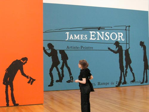 [entry to the James Ensor exhibit]