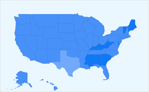 [all states are shades of blue]