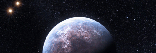 [artist's impression of Earth-like planet in the system Gliese 667]