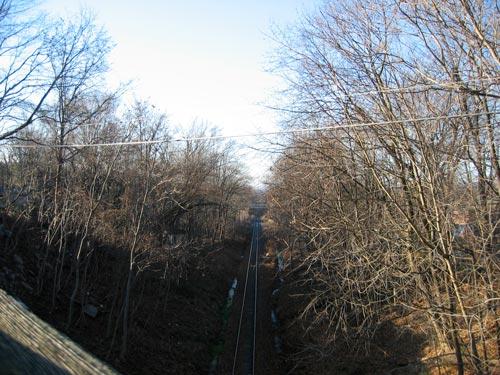 [railway line heading south]