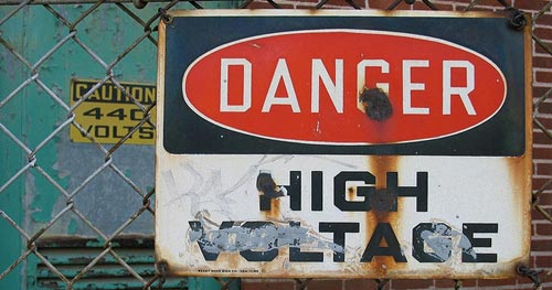 [Danger: High Voltage]