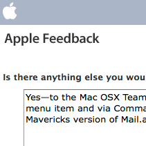 [Apple Feedback form]